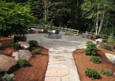 Stone Walkway with Firepit