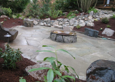 Waterfall and Firepit