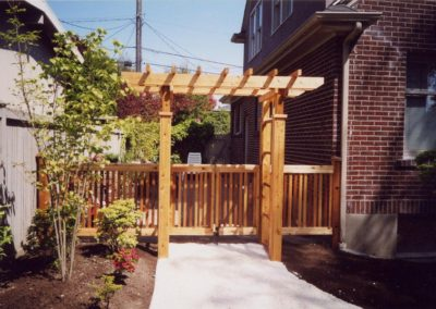 Garden Gate with Trellis