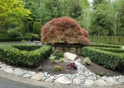 Protecting Vulnerable Sprinkler System with Rock Garden