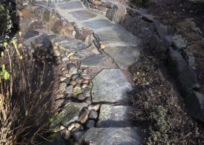 Stone Pathway Traverses and Embankment